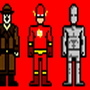 pixelated super heroes by dommi-fresh