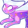 Glitter Wand Cat by KingOfFatCats