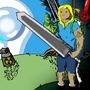 Finn the swordsman by SaschaB