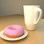 Donut and Coffee by DEC0DE