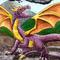 Spyro All Grown Up! - Watercolour/Mixed Media Fan Art!
