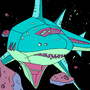 Robot Shark Spaceship by personnotstudying