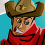 What's a cowboy without his hat?!! by Luchanimation
