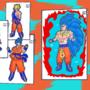 Super Saiyan God Super Saiyan 3 Goku. LVL 99 by FTW-Studios