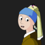 Girl With An Actual Pearl Earring by NorikoBunny