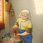 """STYLE SWAP - Johannes Vermeer's """"THE MILKMAID"""" in Gravity Falls Style by AngshumanDhar"""