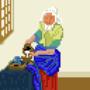 The Milk Maid Pixel Art by OVCharlie
