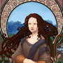 Mona Lisa/Art Nouveau by Djoresh