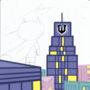 Batman powerpuff style wip by CartoonCaser