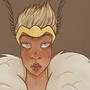 Moth girl -Royal Guard by viqqah