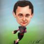 Football Player Caricature by matthewsjc1