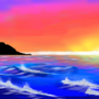 Sunset Seascape by DragonJarod