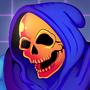 Skeletor's neon pizza by PsychoMonki