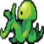 Pixel Alien Squid by ShellCrabGD