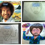Process of creation - Bob Ross T-shirt design by Elzibeth87
