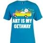 """T-Shirt Design """"Art Is My Getaway"""" by JunoAllStudio"""