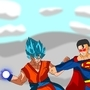 Goku VS Superman by SuperBlue4Broly