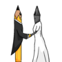 Pencil and Stylos wedding by SophusJordtDraws
