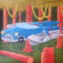 Futurism Car in Forest by JRCviews