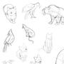 Animal Gestuer Drawings by LunaKoraDesigns