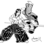 Hokuto aka Shirase throwing Ryu Inked