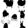 Cute monstah sticker set #1 by Taitanator