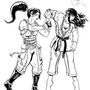 DOA's Momiji doing Sankyo on Hitomi Inked
