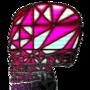 Skull Glass Pane by DeadlyMace2