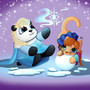 Frozen Playtime by zebras-on-ice