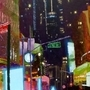 New York at Street Level - Acrylic by Dyceus
