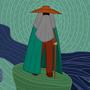 An Old Man On An Older Pillar
