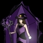Beautiful purple witch crystal by Anthony-Liberty
