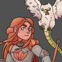 Knight Lady w Cockatrice by Minimancom