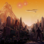 City of Olympus Mons by ArtistGamerGal