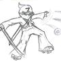 Ninjaman Z sketch by BattleDragonGargonis