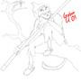 Monkey Lineart by ZombieMonkey