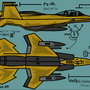 F-22 Lemon Raptor by Zoljix