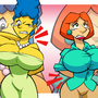 Marge vs Lois by C-Rocket1