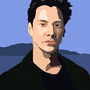Pixelated Keno Reeves by Overtired