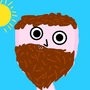 Crazy dude with a beard by Tooby