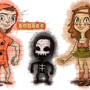 Dooder, Margaret and Lil' Doom by sexysexybicycle