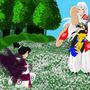 Kagura's last moments by DmattGibson