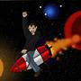 Riding a Rocket by DmattGibson