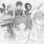 Self Portrait with Characters by AkujinRuukasu