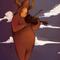 Playing the violin at night