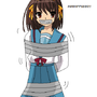 Haruhi Suzumiya Tied Up by LordViral