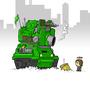 Tank fight by Kaptain-Karmel