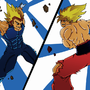 Goku Vs Vegeta by TaraGraphika