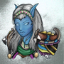 Draenei hunter coloured by Phatess