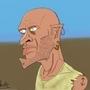Skinhead Zombie Pirate by PsychoCrow